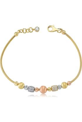 Diva Pırlanta 14K Altın Beads&Chain Bileklik