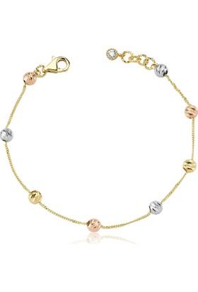 Diva Pırlanta Altın Beads&Chain Bileklik