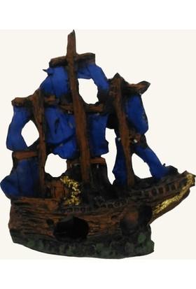 Kanki Pet Batık Yelkenli Dk-5501 Akvaryum Dekoru