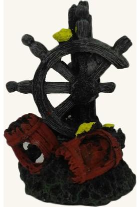 Kanki Pet Gemi Dümeni Dk-5536 Akvaryum Dekoru