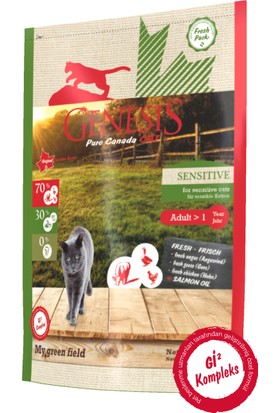 Genesis Pure Canada My Green Field - Sensitive Hassas Mide Ve Sindirim Sistemine Sahip Yetişkin Kedi Maması 2,26 Kg
