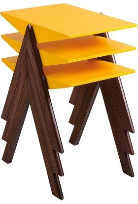 Mobilya Şöleni Piramit Zigon Sehpa - Sarı