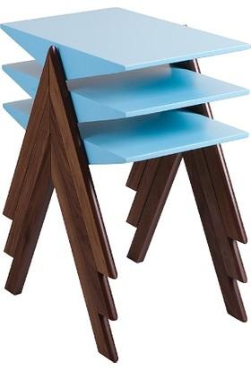 Mobilya Şöleni Piramit Zigon Sehpa - Mavi