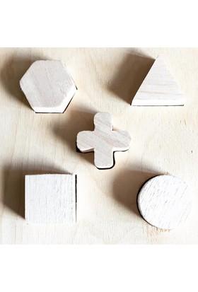 Oyuncak Ağacı Geo Puzzle Ahşap Geometrik Yapboz