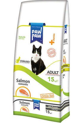 Pawpaw Sterilised Somonlu Kısırlaştırılmış Kedi Maması 15 Kg