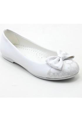 Mini Women 203 Kız Çocuk Babet Beyaz