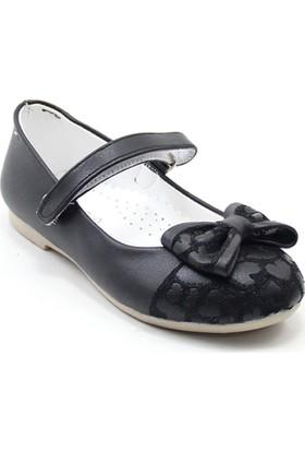 Mini Women 203 Kız Çocuk Balerin Babet Siyah