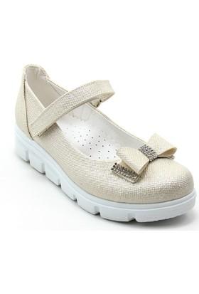 Varkan Tokalı Kız Çocuk Ayakkabı Sarı