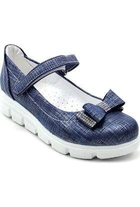 Varkan Tokalı Kız Çocuk Ayakkabı Lacivert