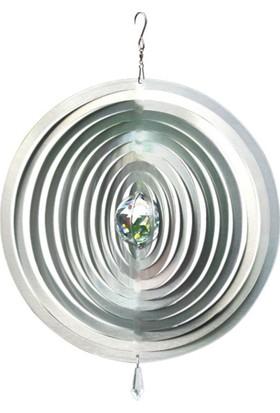 Panstore Yılbaşı Süsü Noel Kristal Toplu Metal Dekoratif Rüzgar Gülü