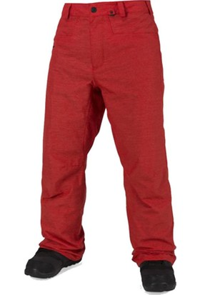 Volcom Carbon Erkek Snowboard Pantolonu Kırmızı