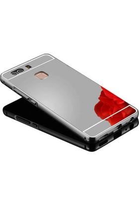 Kapakevi Huawei P9 Aynalı Metal Bumper Kılıf
