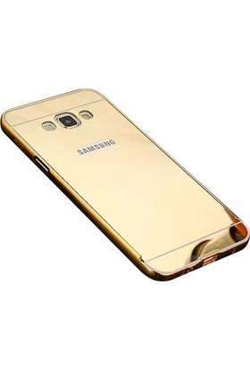 Kapakevi Samsung Galaxy J1 Ace Aynalı Metal Bumper Kılıf