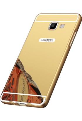 Kapakevi Samsung Galaxy A8 2016 Aynalı Metal Bumper Kılıf