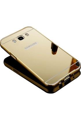 Kapakevi Samsung Galaxy J7 2016 Aynalı Metal Bumper Kılıf