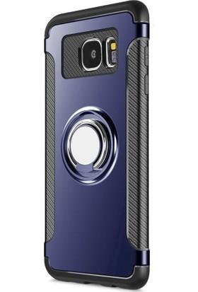 Kapakevi Samsung Galaxy S7 Edge Mıknatıslı Selfie Yüzük Standlı Ultra Koruma Kılıf