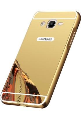 Kapakevi Samsung Galaxy Grand Prime G530 Aynalı Metal Bumper Kılıf