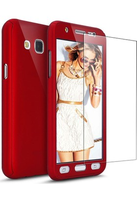 Kapakevi Samsung Galaxy J7 Pro 360 Tam Koruma Kırılmaz Camlı Kılıf