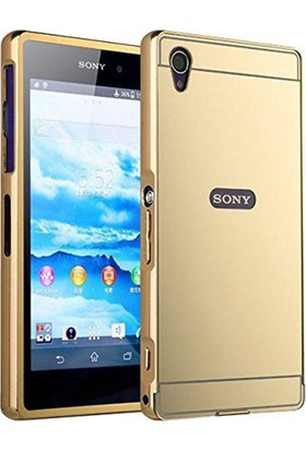 Kapakevi Sony Xperia Z2 Premium Aynalı Metal Bumper Kılıf