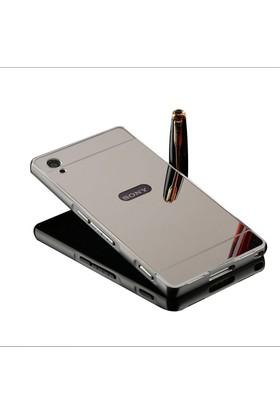 Kapakevi Sony Xperia Z4 Aynalı Metal Bumper Kılıf