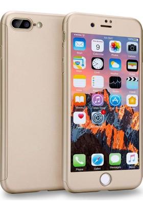 Kapakevi Apple iPhone 8 Plus 360 Tam Koruma Kırılmaz Camlı Kılıf