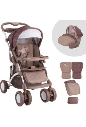 Lorelli Apollo Beige Star Travel Sistem Bebek Arabası