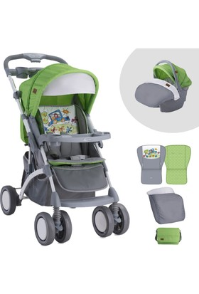Lorelli Apollo Grey Green Travel Sistem Bebek Arabası