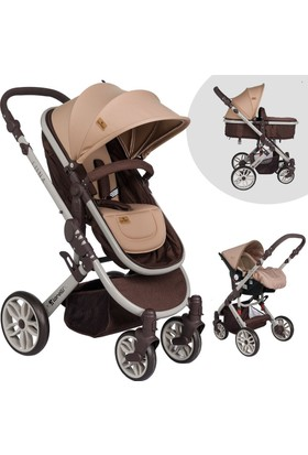 Lorelli Luna Brown Beige Travel Sistem Bebek Arabası