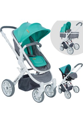 Lorelli Luna Grey Green Travel Sistem Bebek Arabası