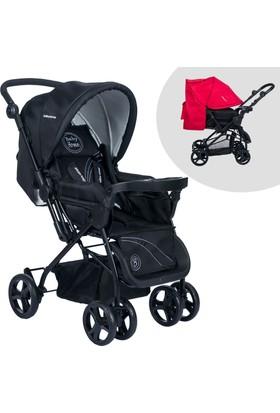 Baby Home BH-111 Tepsili Çift Yönlü Siyah Bebek Arabası