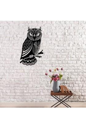 Dekoragel Gamsız Baykuş Metal Duvar Dekoru