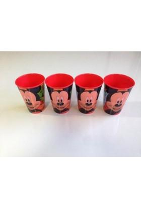 Disney Mickey Mouse Plastik Bardak 4 Adet