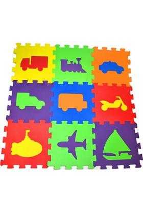 Akçiçek Eva Oyun Karosu Yer Matı Puzzle Taşıtlar Temalı 33 x 33 cm