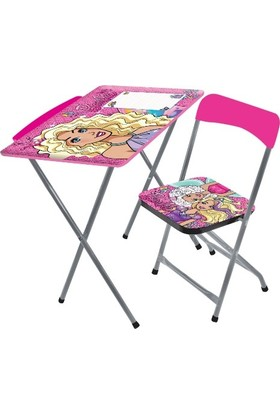 Disney Barbie Çocuk Ders Çalışma Masası
