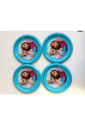Disney Frozen Plastik Tabak 4 Adet