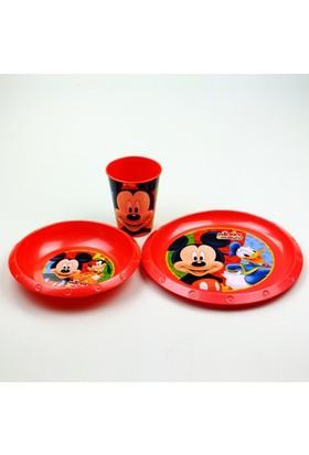 Disney Mickey Plastik 3'lü Set