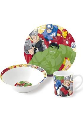 Disney Avengers Porselen 3'lü Beslenme Seti