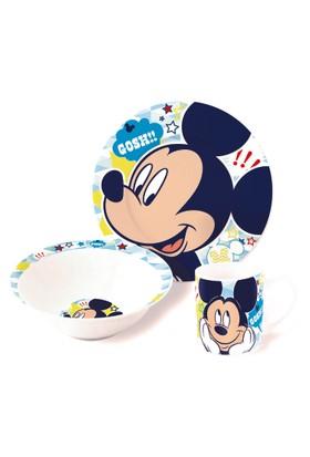 Disney Mickey Mouse Porselen 3'lü Beslenme Seti