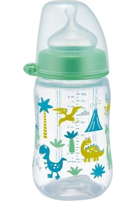 Nip Wide Neck Bottle 260 ml Anti - Kolik Biberon Dino