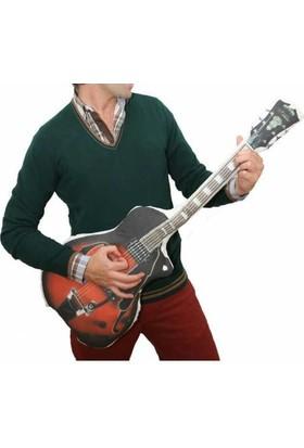 Hediye Mucidi Gitar Şeklinde Deseninde Yastık