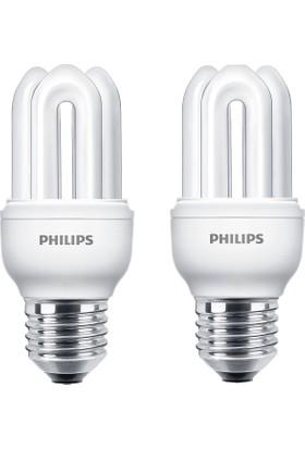 Philips Genie 8W 2'li Tasarruflu Ampul E14 Sarı