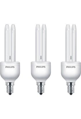 Philips Economy Stick 11W 3'lü Tasarruflu Ampul E27 Beyaz