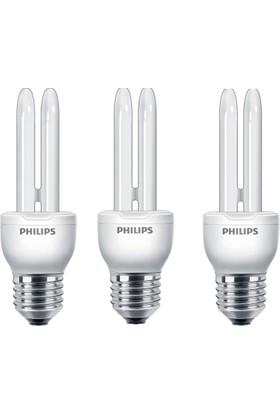 Philips Economy Stick 8W 3'lü Tasarruflu Ampul E27 Beyaz