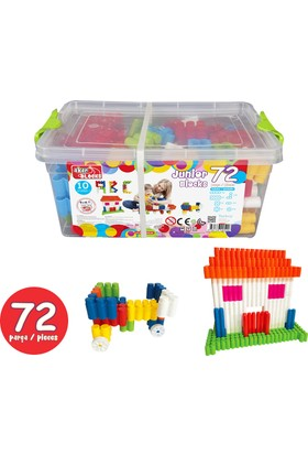 Akar 72 Parça Junior Blocks Plastik Box