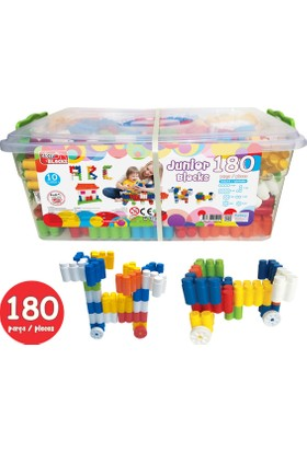 Akar 180 Parça Junior Blocks Plastik Box