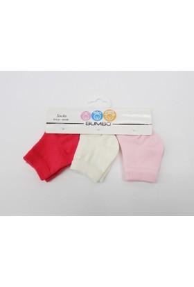 Baby By Bumbo Kız Düz 3'lü Bebek Çorap