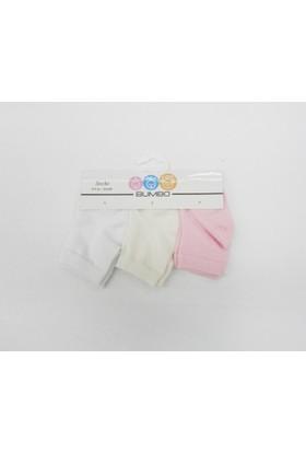 Baby By Bumbo Düz Kız 3'lü Bebek Çorap