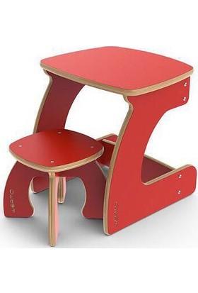 Sima Çocuk Ahşap Çalışma Masası Masa Sandalye Seti