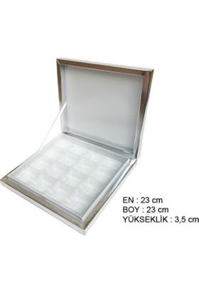 Elite Time Kutu Karton Çikolata İçin 16 Lı Büyük Gümüş P10-80