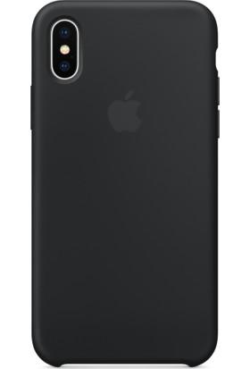 Case 4U Apple iPhone X Silikon Kılıf - Siyah